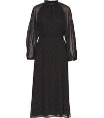 diana ls ankle dress maxiklänning festklänning svart soft rebels