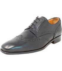 zapato caravel wing perf. blucher negro florsheim