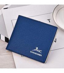 cartera para hombre- cartera corta monedero corto con-azul