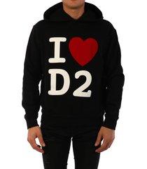 dsquared2 i love hoodie black