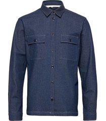 akherbert ls overhemd casual blauw anerkjendt