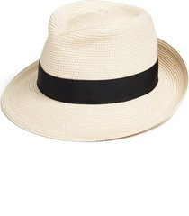 eric javits classic squishee(r) packable fedora sun hat in cream/black at nordstrom