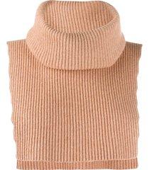cashmere in love sleeveless neck warmer - neutrals