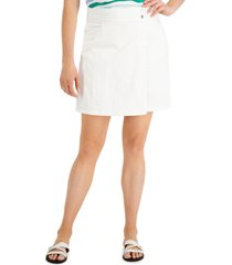 karen scott crossover button skort, created for macy's