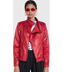 chaqueta desigual marrakech rojo - calce regular