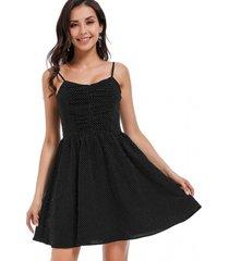 vestido pabilo lunares negro nicopoly