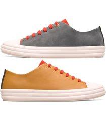 camper twins, sneaker donna, rosso /grigio/giallo, misura 41 (eu), k200980-003