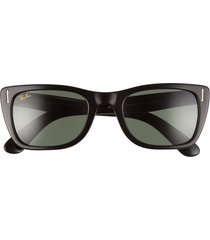 ray-ban original wayfarer classic 52mm sunglasses - shiny black/ green