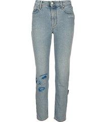 bedrukte zijde jeans