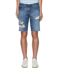 'eli' distressed denim shorts