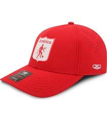 gorra américa de cali oficial corte láser oc caps roja