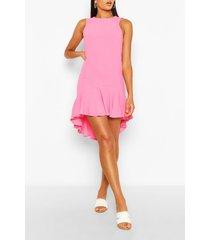 drop hem frill smock dress, pink