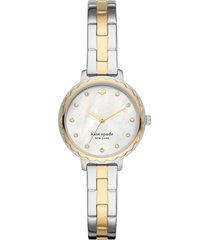 kate spade new york morningside bracelet watch, 28mm in two-tone at nordstrom