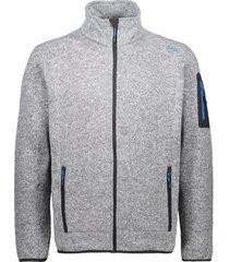 blazer cmp knit-tech meliert fleece jacket