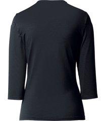 shirt met v-hals van peter hahn zwart