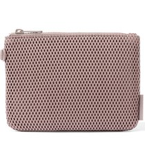 dagne dover small parker mesh pouch - brown