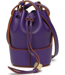nano balloon bucket bag, purple