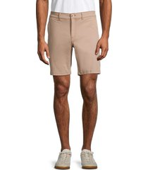 saks fifth avenue men's flat-front chino shorts - wild olive - size 42
