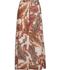 3384 - sasha skirt t lång kjol multi/mönstrad sand