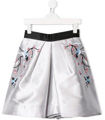 raspberry plum tara skirt - silver