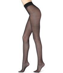 calzedonia 30 denier sheer shaping tights with control top woman black size 4