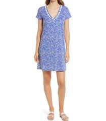 women's lilly pulitzer etta print shift dress, size xx-small - blue