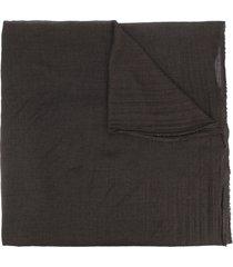 rick owens long frayed-edge scarf - brown