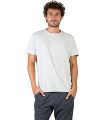 t-shirt básica mescla comfort cru cru/m - kanui