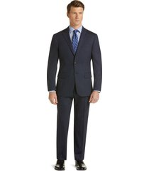 jos. a. bank men's 1905 collection slim fit herringbone suit with brrr°® comfort clearance, navy, 38 long