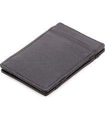 royce new york leather magic wallet - black
