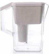 jarra purificadora água alcalina com filtro cerâmica e minerais branca