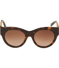 tod's women's 52mm round sunglasses - havana