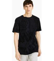 karl lagerfeld paris men's tie-dyed graphic pima cotton t-shirt