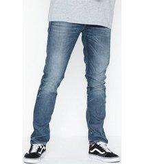 nudie jeans grim tim worn in broken jeans denim
