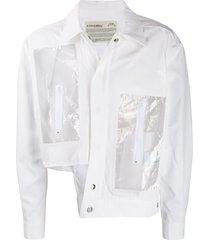 a-cold-wall* asymmetric transparent pockets jacket - white