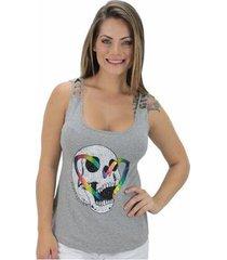 regata volcom skull rainbow feminina
