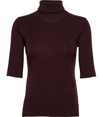 merino elbow sleeve top t-shirts & tops knitted t-shirts/tops rood filippa k