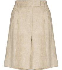 remain kit linen bermuda shorts - brown