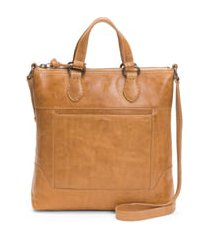 frye melissa small leather tote - beige