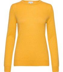 basic sweater stickad tröja gul davida cashmere