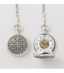 mullingar pewter trinity mechanical pocket watch