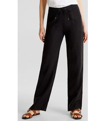 pantalón straight medium rise negro esprit