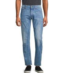 g-star raw men's 3301 straight-fit jeans - medium blue - size 32 32