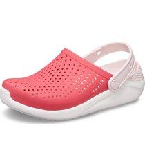 sandália crocs literide kids ™ rosa/branco - kanui