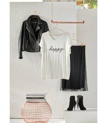 maglia con applicazione (bianco) - bodyflirt