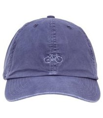 boné masculino bordado bike - azul