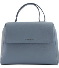 orciani sveva soft medium leather shoulder bag