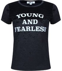 camiseta velvet negra color negro, talla 12