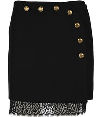 givenchy wool and lace mini skirt