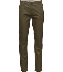 twisted twill chions''32 chinos byxor grön knowledge cotton apparel